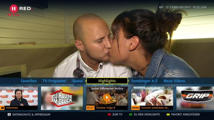 RTL II RED.  – Das HbbTV-Angebot von RTL II