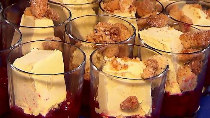 Die Kochprofis - Rezept - Kirsch-Crumble - Folge 356