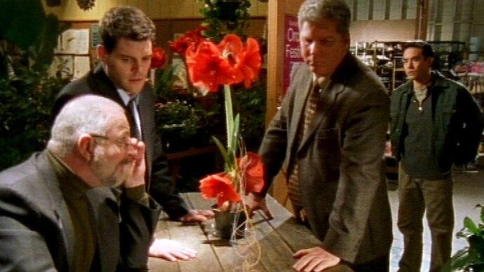 Ein Blumenhändler wurde ermordet und es gab keine Zeugen, außer die Blumen im Laden.