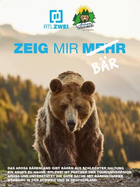 Kampagne für das Arosa Bärenland
