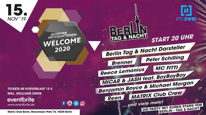 Berlin - Tag und Nacht - Der große Silvester Hit-Countdown 2018 im Matrix