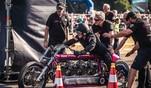 Das legendäre Rennen aus den Achtzigern in der Neuauflage: Werner mit seinem Kult...