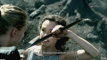 """Die Stunts am Set der Serie: Für die Fantasy-Serie """"The Shannara Chronicles"""" werden die Schauspieler gefodert: von..."""