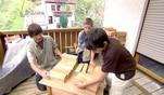 Zuhause im Glück: Schreinertipp: Nachttischchen aus Holzklötzen