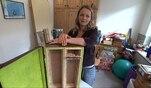 Zuhause im Glück: Evas Basteltipps: Ein CD-Regal aus einem alten Koffer