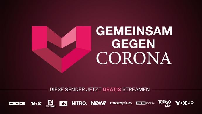 Gemeinsam gegen Corona: Livestreams bei TVNOW jetzt gratis